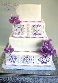 mexican tile orchid wedding cake cakecentral com