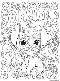 Coloriage mandala disney facile Stitch from Lilo and Stitch