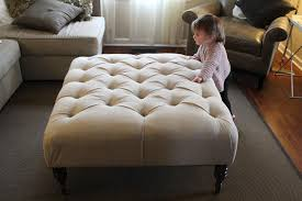 Large Ottoman Coffee Table Sofa Fascinating Upholstered Footstool Coffee Table Diy Ottoman