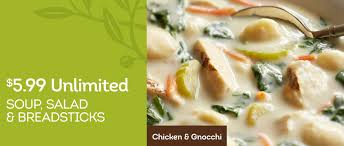 olive garden unlimited soup salad and breadsticks for only 5 99