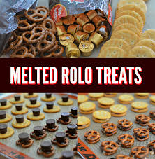 easy melted rolo treats with ritz crackers u0026 pretzels ritz