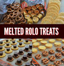 easy melted rolo treats with ritz crackers u0026 pretzels ritz