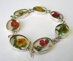 How To Make Inlay Jewelry - natural flower inlay mexican abalone jewelry