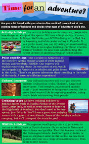 adventure travel learnenglish teens british council