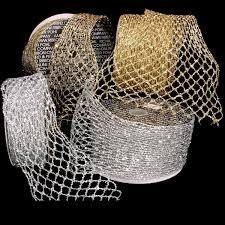 fuzzy stretchable mesh ribbon