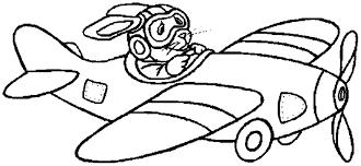 dessins de avions à colorier