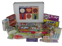 60 birthday gifts 60th birthday gift box of retro candy from childhood