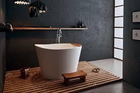 aquatica true ofuro japanese deep soaking freestanding bathtub by
