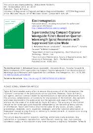 superconducting compact coplanar waveguide filters based on