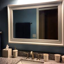 Framed Bathroom Mirror Ideas White Wood Framed Bathroom Mirrors Home Design Ideas And Pictures