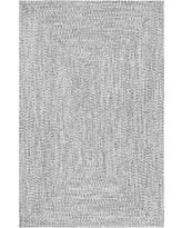Black And White Braided Rug Summer Savings On Nuloom Festival Braided Lefebvre 6 Foot Round