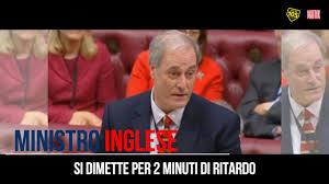 letta si dimette 105 matrix ministro inglese si dimette per 2 minuti di ritardo