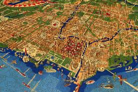 Maps Of Chicago by An Illustrated Map Of Chicago Wooden Jigsaw Puzzle Liberty