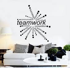 vinyl wall decal teamwork words office decor business stickers