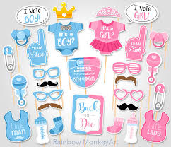 reveal baby shower gender reveal baby shower photo props buck or doe baby