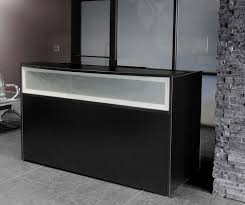 Reception Desk With Display Black Reception Desk W Frosted Glass Panel