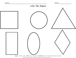 triangle shape coloring pages printable kids tracing shapes