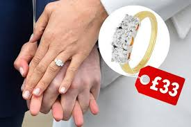 engaged ring meghan markle s engagement ring looks like an argos sparkler that