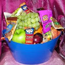 snack basket fruit and snack basket