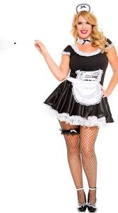 French Maid Halloween Costumes Size Lace Trimmed French Maid Costume Size French