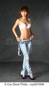 japanesse women with grey hair beautiful japanese girl in jeans over dark grey background stock