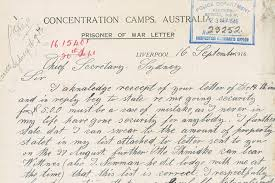 letter from a man interned during wwi abc news australian