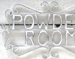 Wall Art For Powder Room - powder room sign etsy