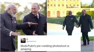 Putin Memes - pm modi and putin took a walk in the park and twitterati think