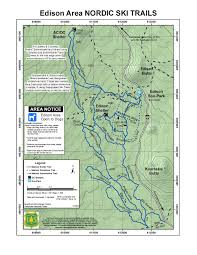 Bend Oregon Map Nordic And Snowshoe Trails Near Bend Oregon