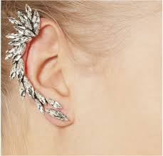clear earrings wholesale cool clear rhinestone unique statement ear wrap earrings