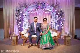 Engagement Decorations Ideas by Purple Red Lehenga With Backdrop Google Search Pakistani
