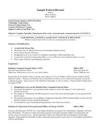 Example Of Military Resume by Enchanting Federal Resume Builder 74 On Resume For Graduate