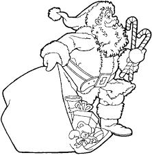 santa bring gift coloring pages kids xmas christmas