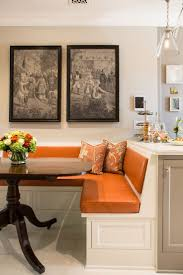 attractive booth style kitchen table including space saving corner