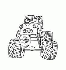 monster truck horns coloring kids