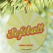 Softball Christmas Ornament - 7 best softball christmas images on pinterest ornament softball