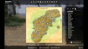 Eso Skyshard Map Elder Scrolls Online Glenumbra Treasure Map I Location Eso