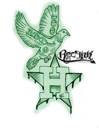 h town tattoo 713 hustletown screwston htx by txrec on deviantart