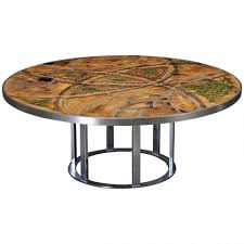 coffee table table round hammered metal coffee farmhouse large