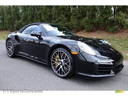 black porsche 911 turbo 2015 porsche 911 turbo s cabriolet in jet black metallic photo 6