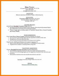 Sephora Resume Sample Theater Resume 10 Acting Resume Templates Free Samples