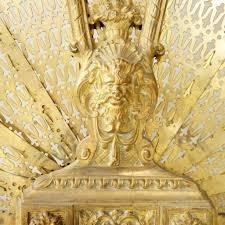 antique french louis xvi style brass folding fan fireplace scre
