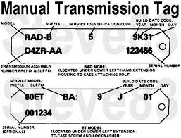 ford f150 transmission identification codes manual transmission identification 80 96 ford bronco tech