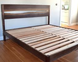 Custom Platform Bed Platform Bed Walnut Mid Century Modern Live Edge