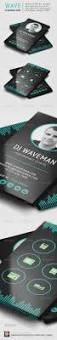wave dj business card template by vinyljunkie graphicriver