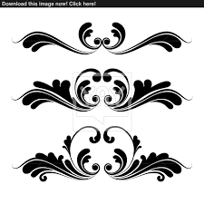 floral ornaments graphic design vector yayimages