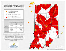 Indiana State Map Isdh Trauma System Injury Prevention Program Home