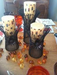 wheat holders and indian corn candles were purchased at cracker