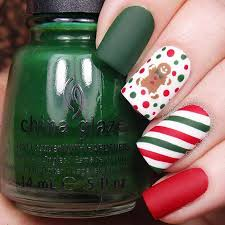 29 easy winter and christmas nail ideas gingerbread winter
