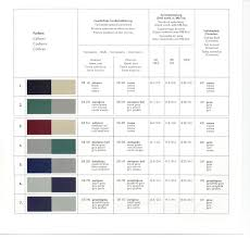 mercedes benz ponton paint codes color charts www mbzponton org